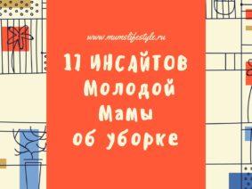 17 ИНСАЙТОВ  Молодой Мамы об уборке
